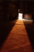 Sunlight coming into factory building from doorway - Alex Mares-Manton