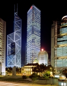 China, Hong Kong, Central Banking District at night. - Carsten Schael