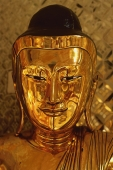 Myanmar (Burma), Shwedagon Paya, Yangon, Bronze Buddha statue. - Martin Westlake