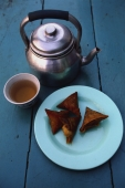 Myanmar (Burma), Yangon, Tea and samosas at the Golden Teashop. - Martin Westlake
