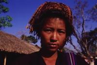 Myanmar (Burma), Inle lake, Pa-o girl selling mustard at 5 day market. - Martin Westlake