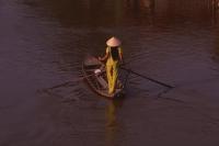 Vietnam, Hau Liang province, Mekong delta, Woman in sampan. - Martin Westlake