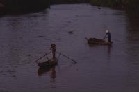 Vietnam, Hau Liang province, Mekong delta, Women in sampans. - Martin Westlake