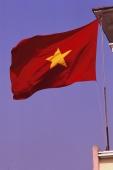 Vietnam, Ho Chi Minh city, Vietnamese flag at Ben Thanh market. - Martin Westlake
