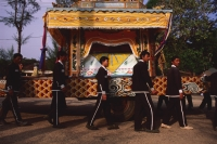 Vietnam, Tay Ninh, Caodist funeral procession. - Martin Westlake