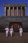 Vietnam, Hanoi, Soldiers marching in front of Ho Chi Minh Mausoleum. - Martin Westlake