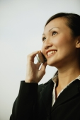 Young woman on mobile phone, smiling - Alex Microstock02