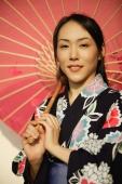 Young woman in kimono, holding an umbrella - Alex Microstock02
