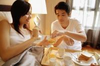 Couple having breakfast in bed - Alex Microstock02