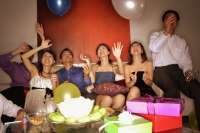Group of friends having a party at home. - Alex Microstock02