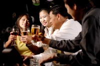 Couples toasting with drinks - Alex Microstock02
