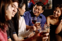 Friends having drinks at bar - Alex Microstock02