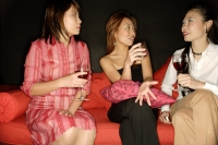 Women with drinks, talking - Alex Microstock02