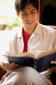 Man reading a book, portrait - Alex Microstock02