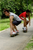 Two guys on skateboards - Alex Microstock02