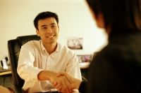 Two executives shaking hands - Alex Microstock02