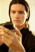Executive using PDA, portrait - Alex Microstock02