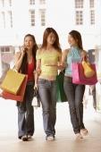 Young women carrying shopping bags, walking side by side - Alex Microstock02