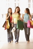 Young women with shopping bags, walking side by side - Alex Microstock02