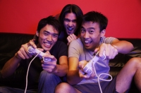 Young men playing with video games - Alex Microstock02