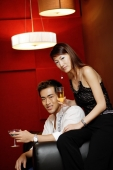 Couple, holding drinks, looking at camera - Alex Microstock02