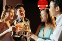 Couples with drinks, toasting - Alex Microstock02