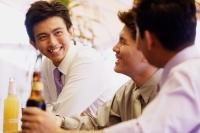 Young men having drinks - Alex Microstock02
