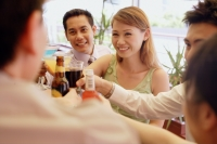 Young adults toasting with drinks - Alex Microstock02