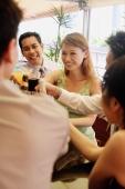 Friends raising drinks for a toast - Alex Microstock02