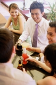 Group of young adults talking at bar ( high angle view) - Alex Microstock02