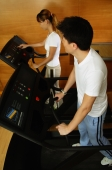 Couple in gym, on treadmill - Alex Microstock02