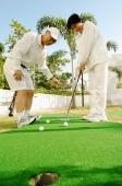 Senior couple playing golf - Alex Microstock02