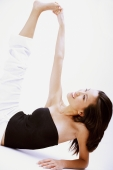 Woman stretching, touching foot - Alex Microstock02