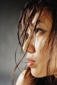 Young woman looking away, hair wet - Alex Microstock02