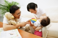 Family with one child, bonding - Alex Microstock02