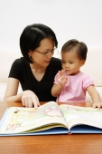 Mother with daughter, reading storybook - Alex Microstock02