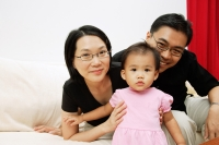 Family with one child, portrait - Alex Microstock02