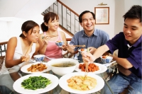 Family eating at home - Alex Mares-Manton