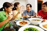 Family having dinner at home - Alex Mares-Manton