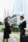 Two business women shaking hands - Alex Microstock02