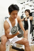 Young men working out in gum - Alex Microstock02