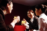 Young executives with drinks - Alex Microstock02