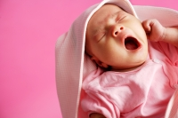 Baby yawning, eyes closed - Alex Microstock02