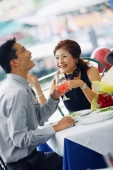 Couple having lunch, laughing - Alex Microstock02