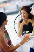 Two women having lunch, smiling - Alex Microstock02