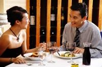 Couple eating in restaurant - Alex Microstock02