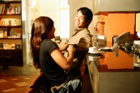 Couple at bar counter, talking - Alex Microstock02