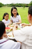 Family having a meal, outdoors - Alex Microstock02