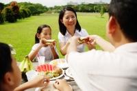 Family having a picnic in park - Alex Microstock02