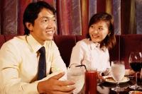 Couples sitting at restaurant, having dinner - Alex Microstock02